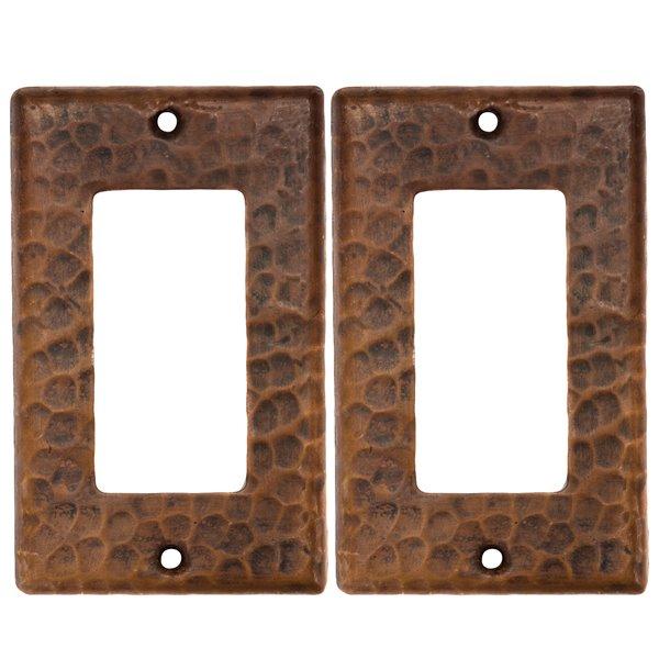 Premier Copper Products Copper Wall Plate - Ground Fault/Rocker GFI -  2 PK