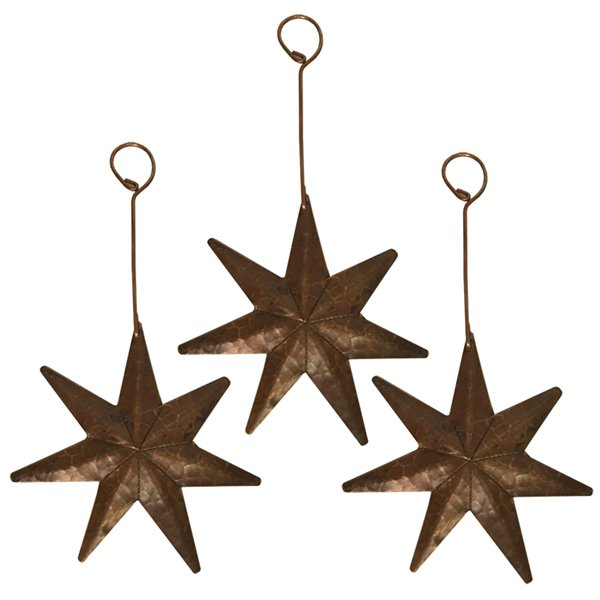 Premier Copper Products Copper Star Christmas Ornament - 3 PK