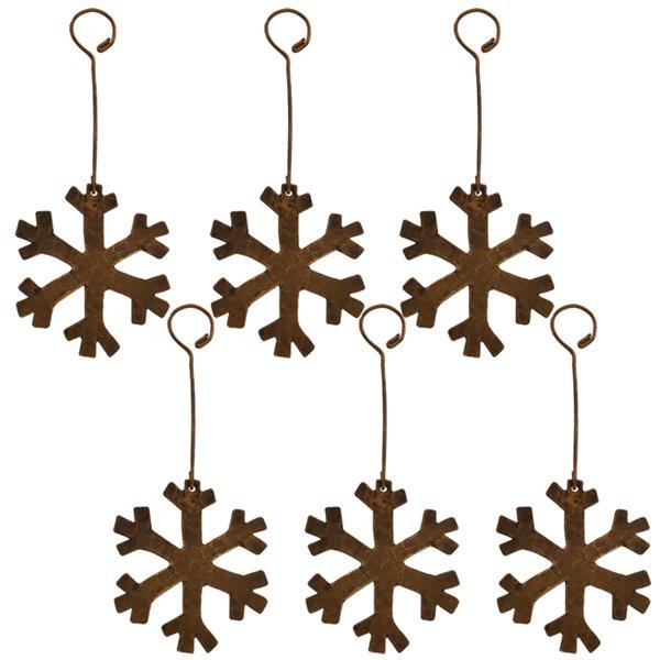 Premier Copper Products Copper Snowflake Christmas Ornament -  6 PK