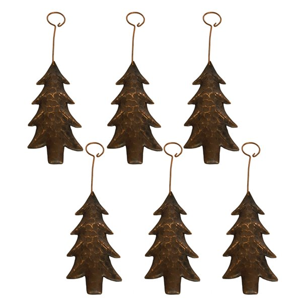 Premier Copper Products Copper Christmas Tree Ornament - 6 PK