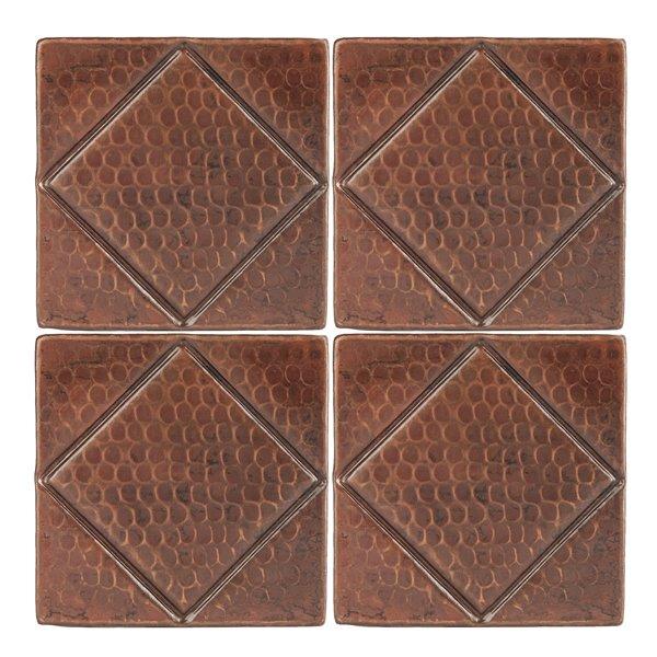 Premier Copper Products Copper Tiles - 4-in x 4-in - 4 PK