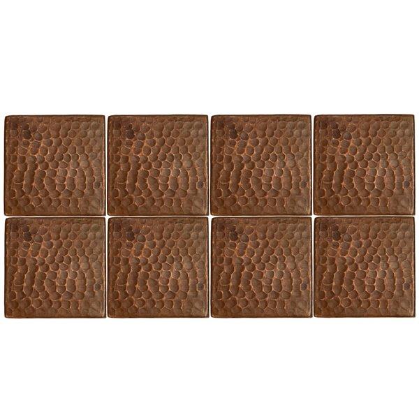 Premier Copper Products Copper Tiles - 3-in x 3-in - 8 PK
