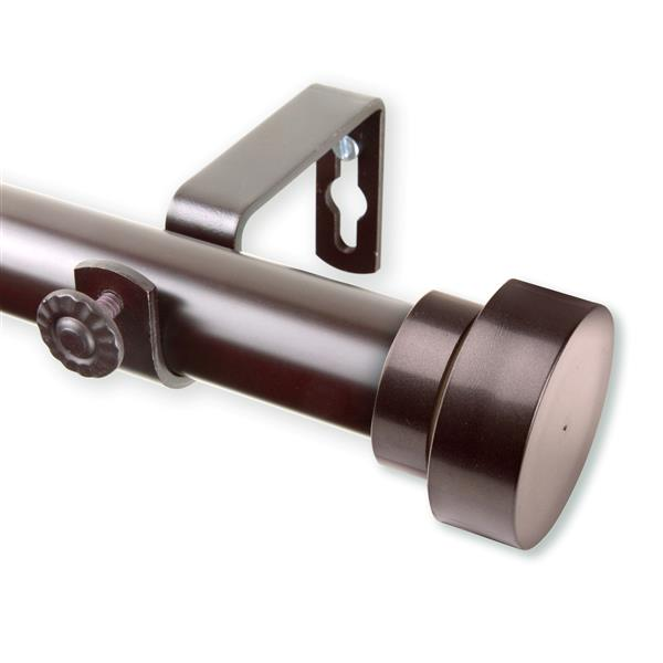 Rod Desyne Bonnet Curtain Rod - 120-170-in - 1-in- Mahogany
