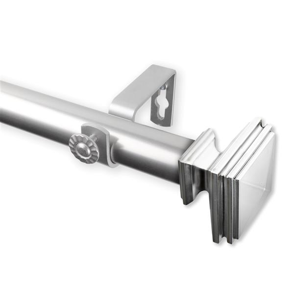 Rod Desyne Bedpost Curtain Rod - 160-240-in - 1-in - Nickel