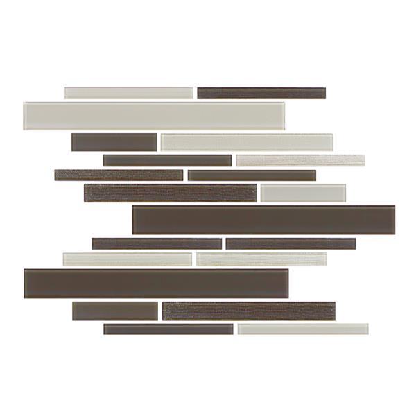 "Ceratec Lifestyle Barista  Wall Tile - 11"" x 12"" - Glass - Cappuccino"