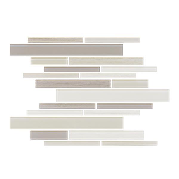 "Ceratec Lifestyle Barista  Wall Tile - 11"" x 12"" - Glass - Cream"