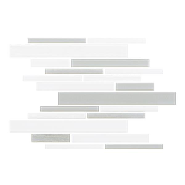 """Ceratec Lifestyle Barista  Wall Tile - 11"""" x 12"""" - Glass - Gray"""