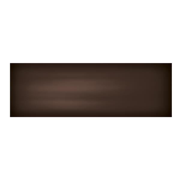 """Ceratec Iris Slide Floor Subway Tile - 8"""" x 24"""" - Ceramic - Brown - 10 pcs"""