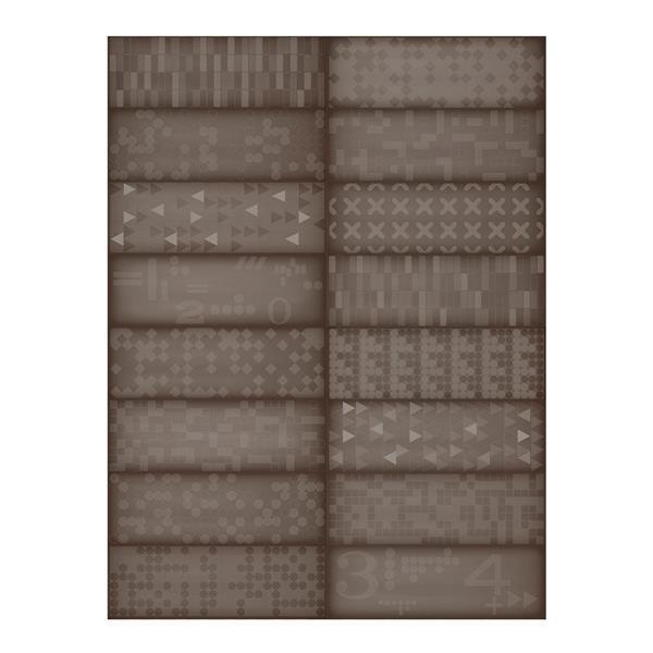 """Ceratec Iris Slide Floor Subway Tile - 8"""" x 24"""" - Ceramic - Brown - 12 pcs"""