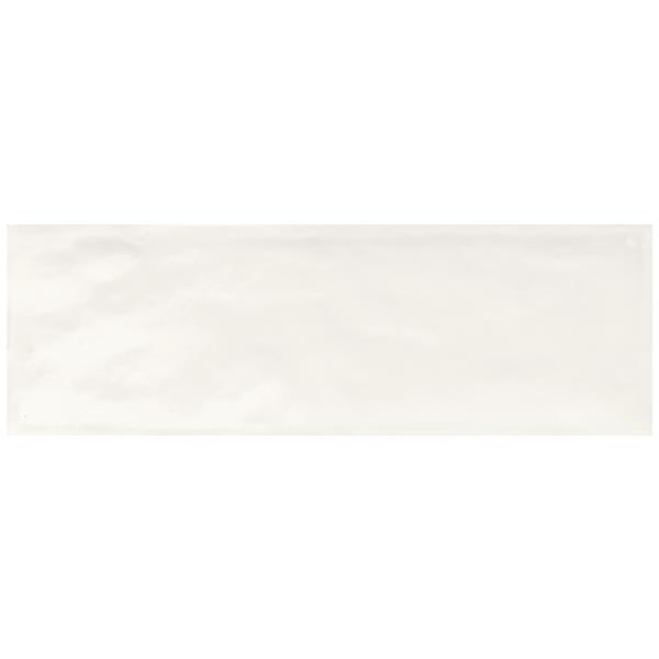 "Ceratec Ragno Brick Wall Subway Tile - 4"" x 12"" - Ceramic - White - 36 pcs"