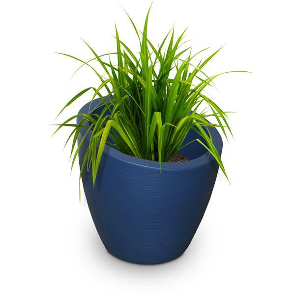 Mayne Modesto 20-in Round Planter - Neptune Blue