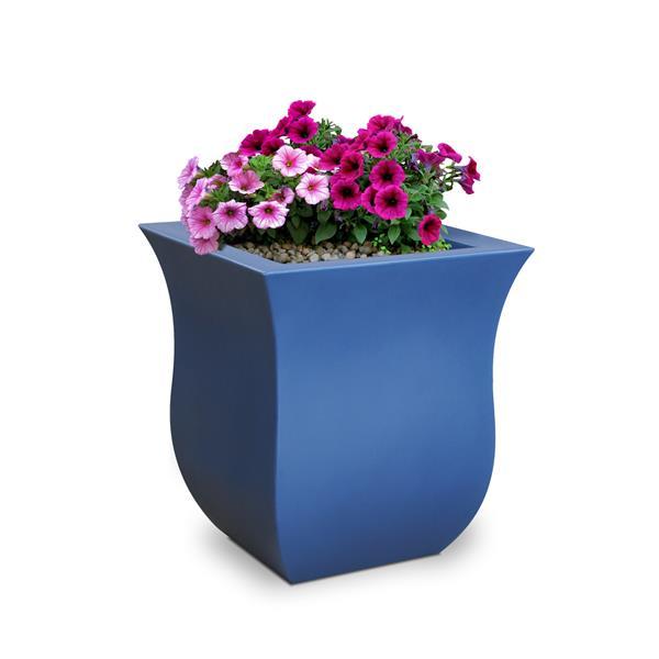 Mayne Valencia  Planter - 16-in x 16-in x 18-in - Plastic - Neptune Blue