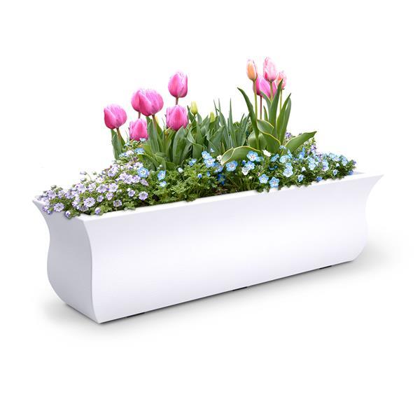 Mayne Valencia 3-ft Window Box  - White