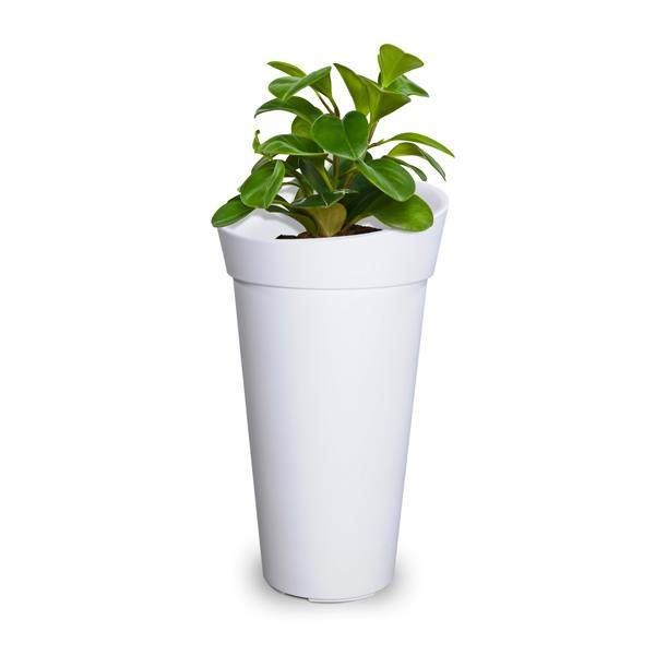Mayne Creston Tall Planter - 28-in - Plastic - White