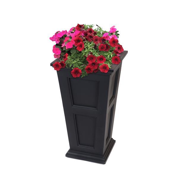 Mayne Fairfield Tall Planter - 28-in - Plastic - Black