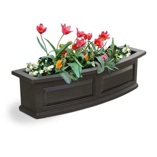 Mayne Nantucket 3-ft Window Box - Espresso