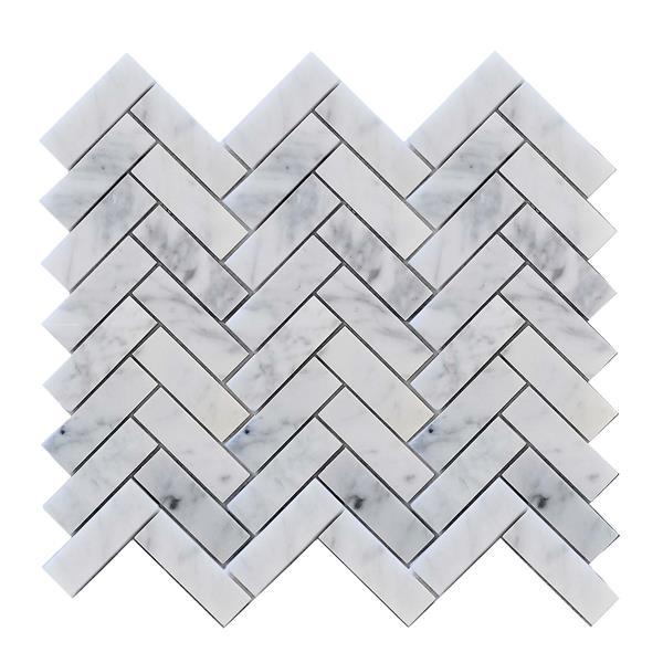 JL Tile Backsplash Tile - 12.5-in x 11.6-in - Stone/White/Grey - 10-pack