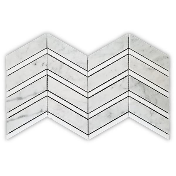JL Tile Roma Backsplash Tile - 16-in x 8.5-in - Stone - Grey - 10-pack