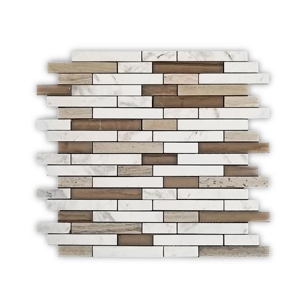 JL Tile Miami Backsplash Tile - 12-in x 12-in - Stone - Beige - 10-pack