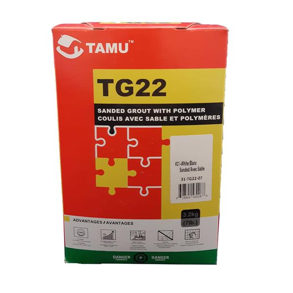 TM Tile and Stone Grout Sanded TG22 - White