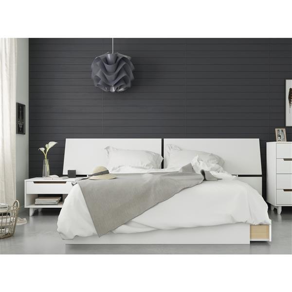 Ensemble chambre à coucher Queen 3 pcs Nuage, Blanc