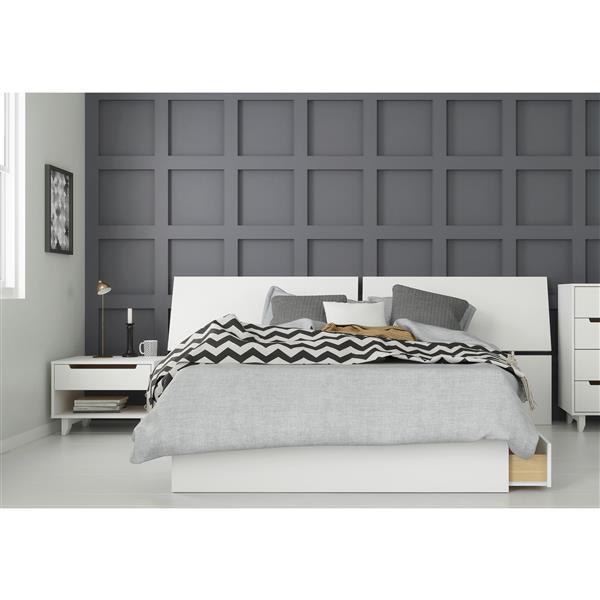 Nexera Nuage 3 Piece Full Size Bedroom Set, White