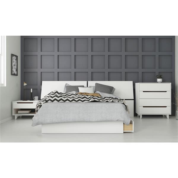 Nexera Nuage 4 Piece Full Size Bedroom Set, White