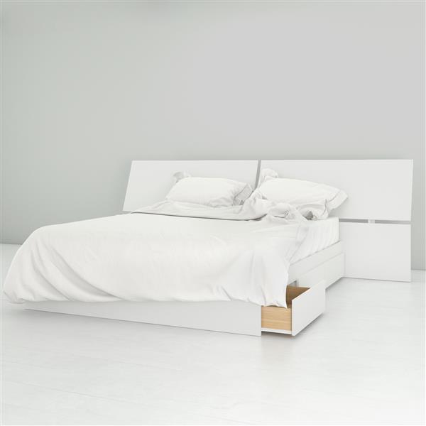 Ensemble chambre à coucher Queen 2 pcs Nexera, Blanc