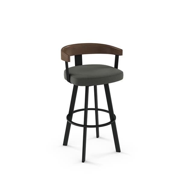 Amisco Lars Swivel Stool - Black
