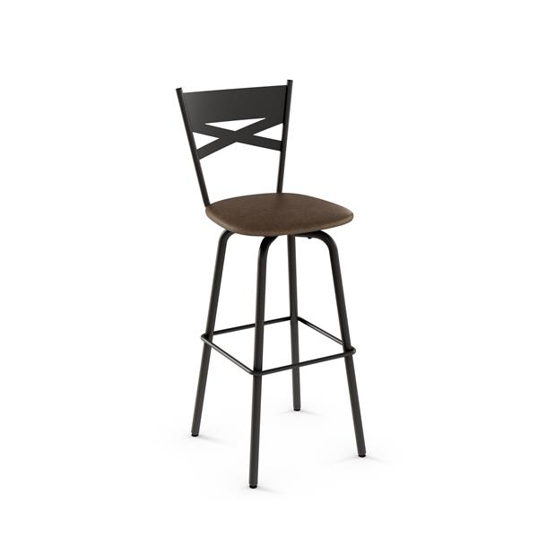 Amisco Tommy Swivel Stool - Brown