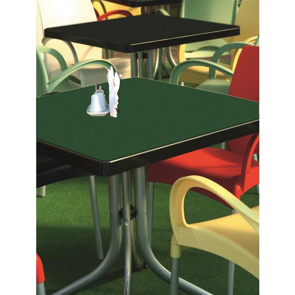 Film décoratif autocollant en velours, 17 po x 39 po, vert
