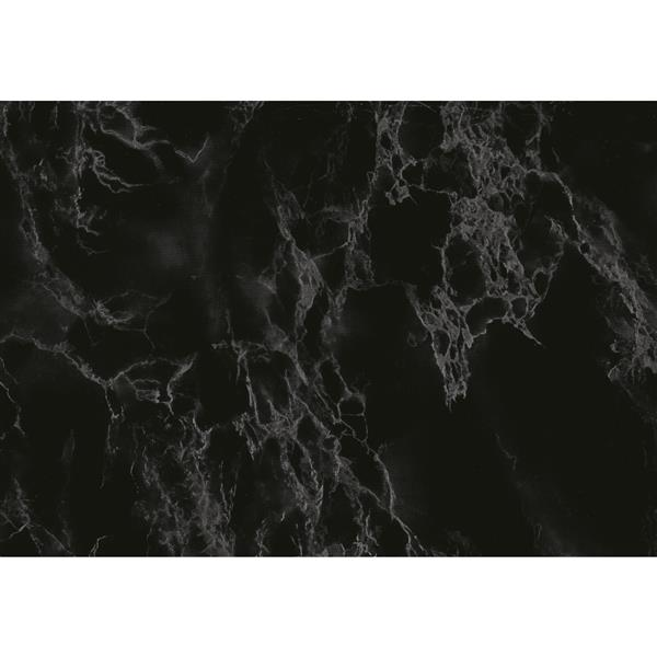 "Film autocollant, 17 ""x 78"", marbre noir, 2 pqt"