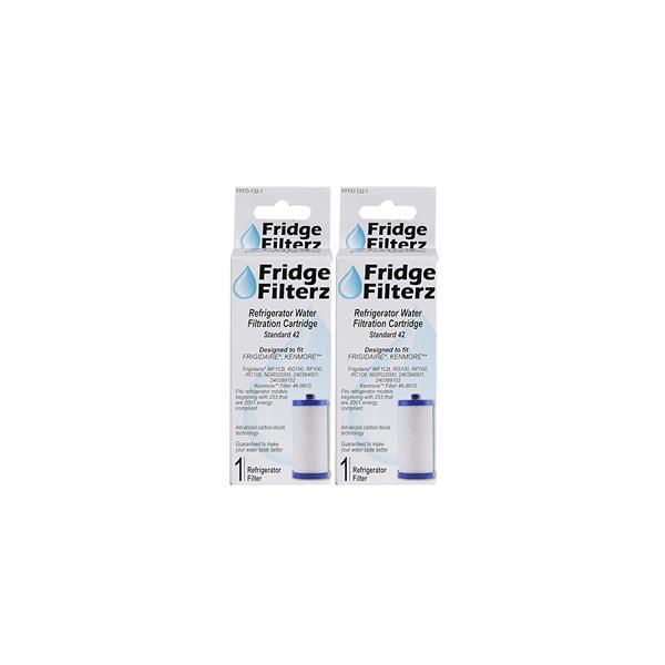 FridgeFilterz Refrigerator Water Filter for Frigidaire & Kenmore (2 Pack)