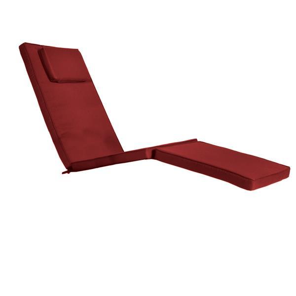 All Things Cedar Steamer Chair Cushion - Red