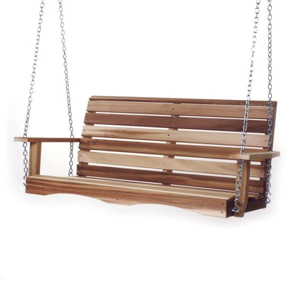 Balançoire de porche All Things Cedar avec ressorts, 4'