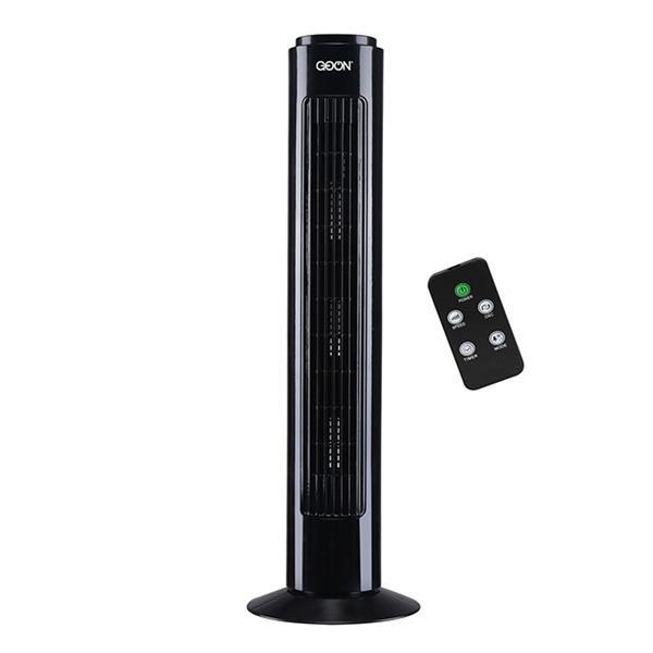 """Ventilateur Vertical GO ON, 28"""", plastique, noir"""