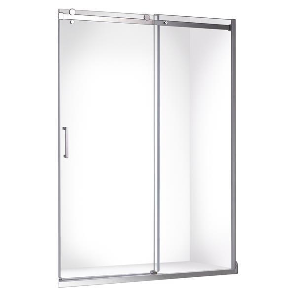 """Jade Bath Quartz Frameless Sliding Shower Door  in Chrome 48"""" x 78.75"""""""