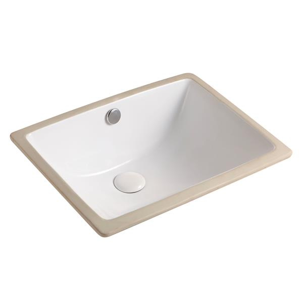"""Jade Bath Tammi Undermount Sink - White - 18.3""""x 13.6"""""""