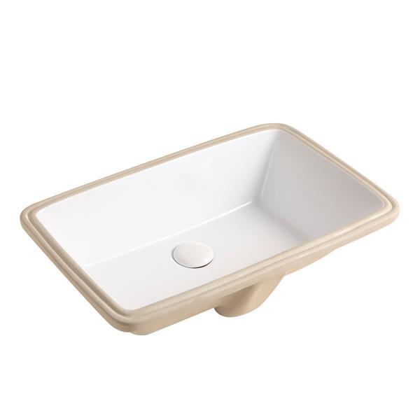 """Jade Bath Janie Undermount Sink - White - 21.5"""" x 13.4"""""""