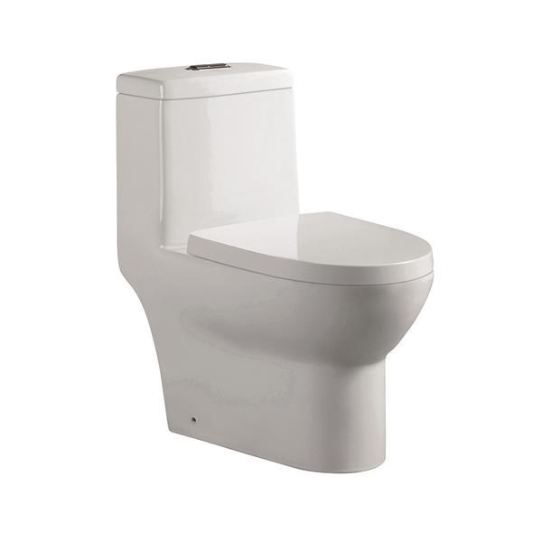 Jade Bath Arielle White 1-Piece Dual-Flush Elongated Toilet (1.28 GPF)