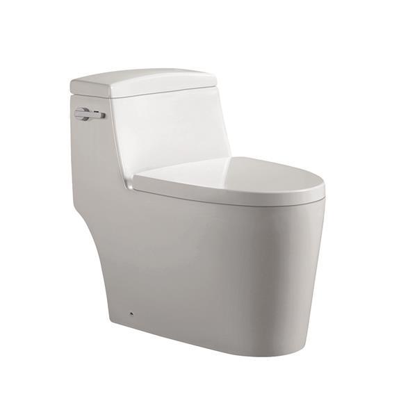Toilette monobloc Joelle, Céramique blanche