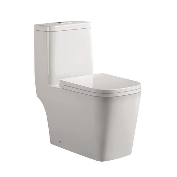 Jade Bath Annabelle White 1-Piece Dual-Flush Standard Height Elongated Toilet (1.28 GPF)
