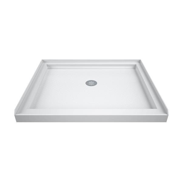 DreamLine SlimLine Shower Base - 36-in x 36-in - Acrylic - White