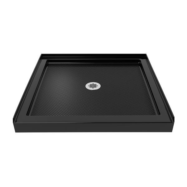 DreamLine SlimLine Shower Base - 36-in x 36-in - Acrylic - Black