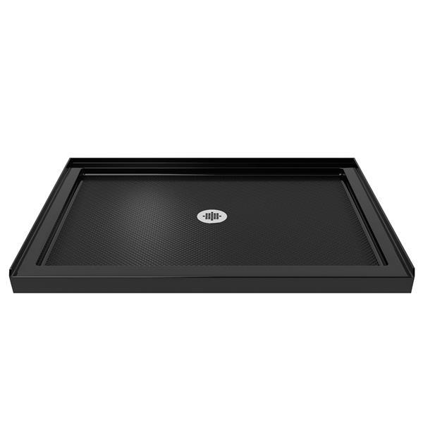DreamLine SlimLine Shower Base - 32-in x 48-in - Acrylic - Black