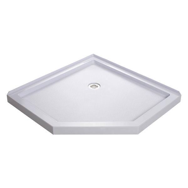 DreamLine SlimLine Shower Base - 40-in x 2.75-in - Acrylic - White
