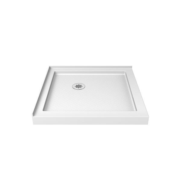 DreamLine SlimLine Shower Base - 36-in x 2.75-in - Acrylic - White