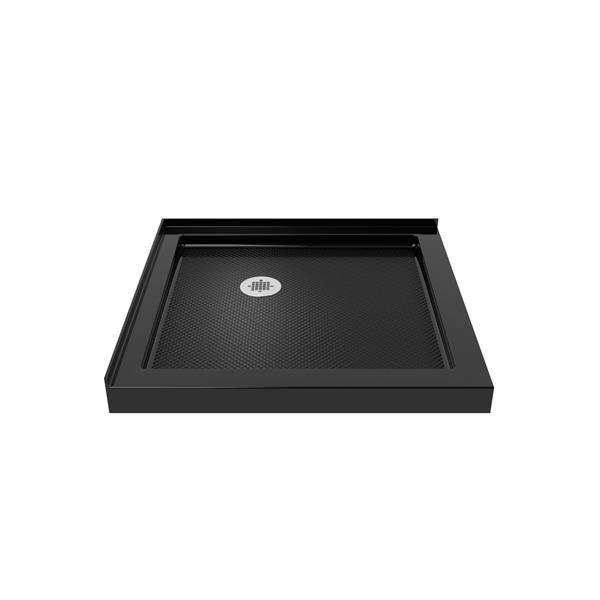 DreamLine SlimLine Shower Base - 36-in x 2.75-in - Acrylic - Black