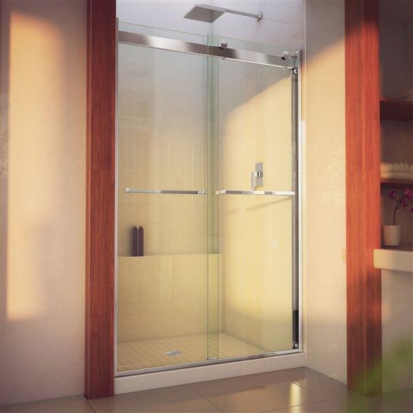 DreamLine Essence-H Sliding Shower Door - 60-in x 76-in - Nickel