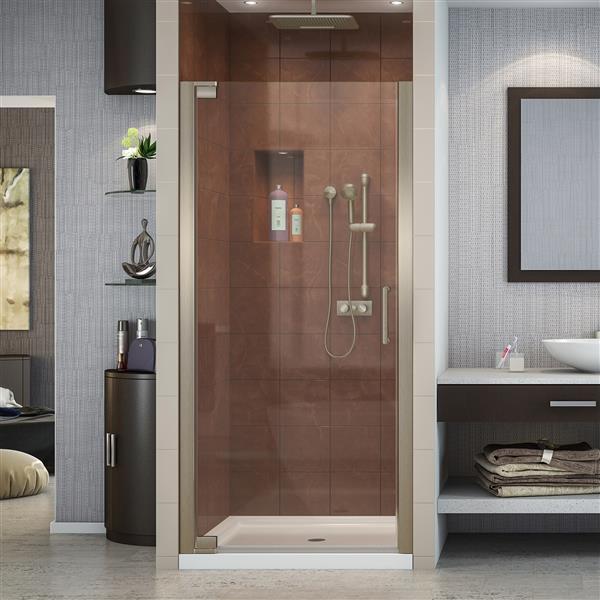 DreamLine Elegance Pivot Shower Door - 36-in x 72-in - Nickel